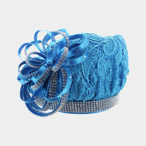 Ribbon Bow Lace Church Hat